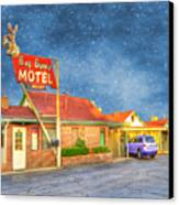 Big Bunny Motel Canvas Print by Juli Scalzi
