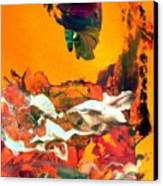 Big Fish Eat Cute Little Fish Canvas Print
