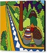 Big Foot Canvas Print by Rojax Art