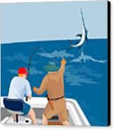 Big Game Fishing Blue Marlin Canvas Print by Aloysius Patrimonio