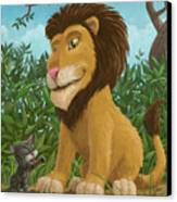 Big Lion Small Cat Canvas Print by Martin Davey