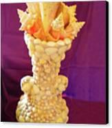 Big Shell Vase Canvas Print by Arlin Jules