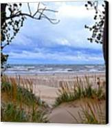 Big Waves On Lake Michigan 2.0 Canvas Print by Michelle Calkins