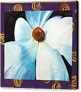 Big White Flower Canvas Print by Grace Matthews