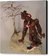 Bigfoot On Crystal Canvas Print by Judy Byington