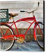 Bike - Delivery Bike Canvas Print by Mike Savad