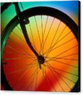 Bike Silhouette Canvas Print by Garry Gay