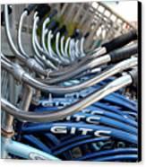Bikes Canvas Print by Steven Scott