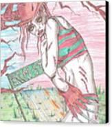 Bikini Freddy Canvas Print by Michael Toth