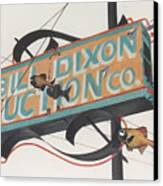 Bill Dixon Auction Canvas Print