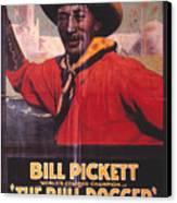 Bill Pickett (1870-1932) Canvas Print by Granger