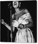 Billie Holiday Canvas Print by American School