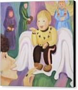 Billy As Baby Jesus Canvas Print by Suzanne  Marie Leclair