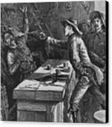 Billy The Kid 1859-81, Shooting Canvas Print