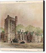 Bingham Dormitory. Yale University. New Haven Connecticut 1926 Canvas Print
