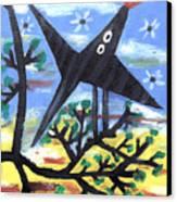 Bird On A Tree After Picasso Canvas Print by Alexandra Jordankova