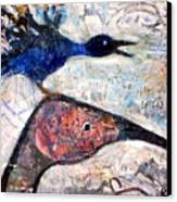 Bird On Bird Canvas Print