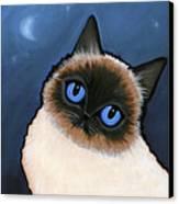 Birman Blue Night Canvas Print by Leanne Wilkes
