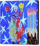 Birthday Clown Canvas Print by Robert SORENSEN