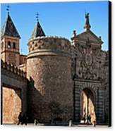 Bisagra Gate Toledo Spain Canvas Print by Joan Carroll