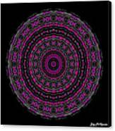 Black And White Mandala No. 3 In Color Canvas Print by Joy McKenzie