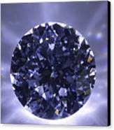 Black Diamond Shine Aura. Canvas Print