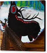 Black Elk Drum Painting Canvas Print
