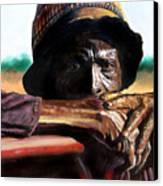 Black Farmer Canvas Print