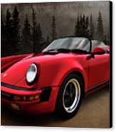 Black Forest - Red Speedster Canvas Print by Douglas Pittman