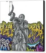 Black Mamba Canvas Print by Steve Weber