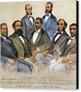 Black Senators, 1872 Canvas Print