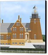 Block Island South East Rhode Island In Full Color Canvas Print