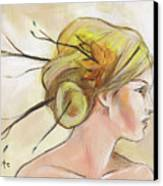 Blonde Autumn Right Canvas Print by Jacque Hudson