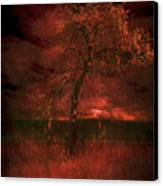 Bloody Tree Canvas Print