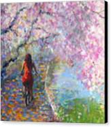 Blossom Alley Impressionistic Painting Canvas Print by Svetlana Novikova