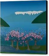Blossom In The Hardanger Fjord Canvas Print