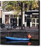 Blu Boat Canvas Print