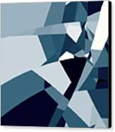 Blue Abstract 2 Canvas Print
