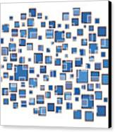 Blue Abstract Rectangles Canvas Print by Frank Tschakert
