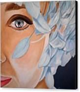 Blue Audrey Canvas Print