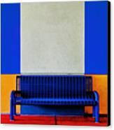 Blue Bench Canvas Print