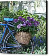 Blue Bike Canvas Print by Cheri Randolph
