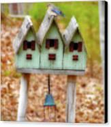 Blue Birds Castle Canvas Print