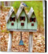 Blue Birds Castle Canvas Print by Laura Brightwood