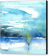 Blue Blue The World Is Blue Canvas Print