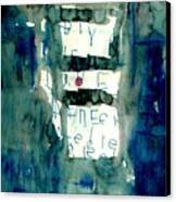 Blue Building Canvas Print
