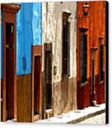 Blue Casa Row Canvas Print