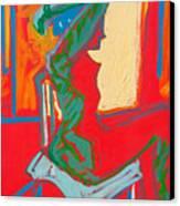 Blue Chair Study Canvas Print