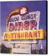 Blue Comet Diner - Hazelton Canvas Print
