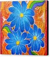 Blue Daisies Gone Wild Canvas Print